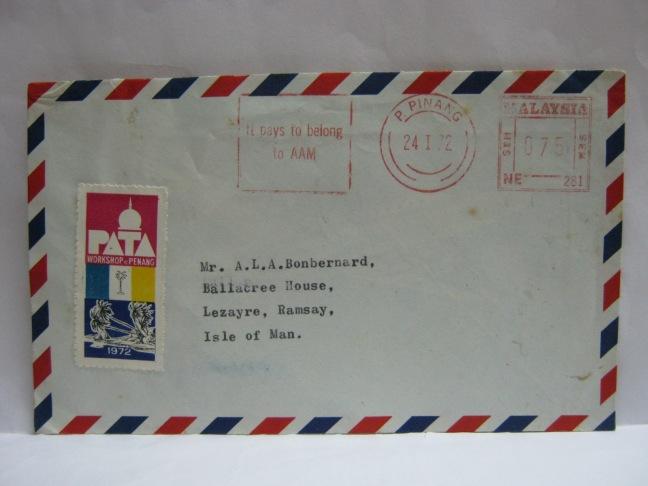 1972 Penang PATA Workshop Label
