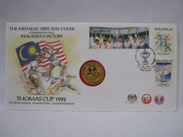 19920725 KL Thomas Cup 1992 medallic front