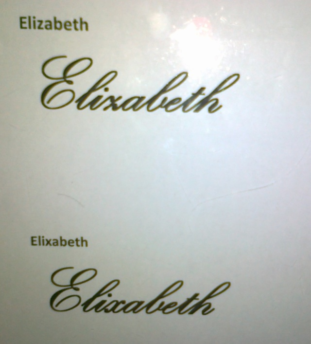 Visuals of Elizabeth fonts from Pos Malaysia