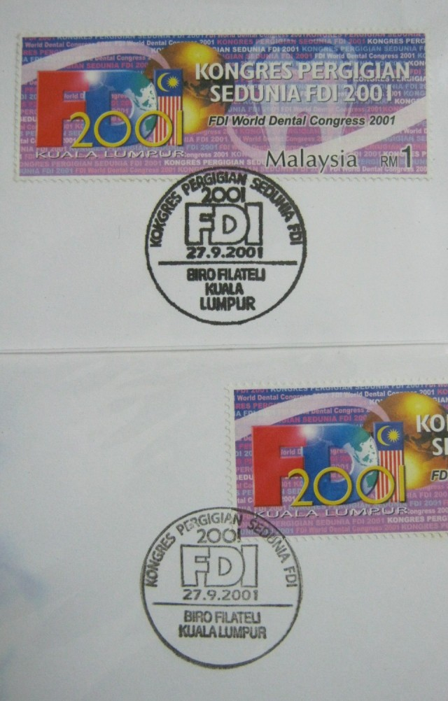 20010927 Kuala Lumpur variety cancellation on FDI World Dental Congress 2001