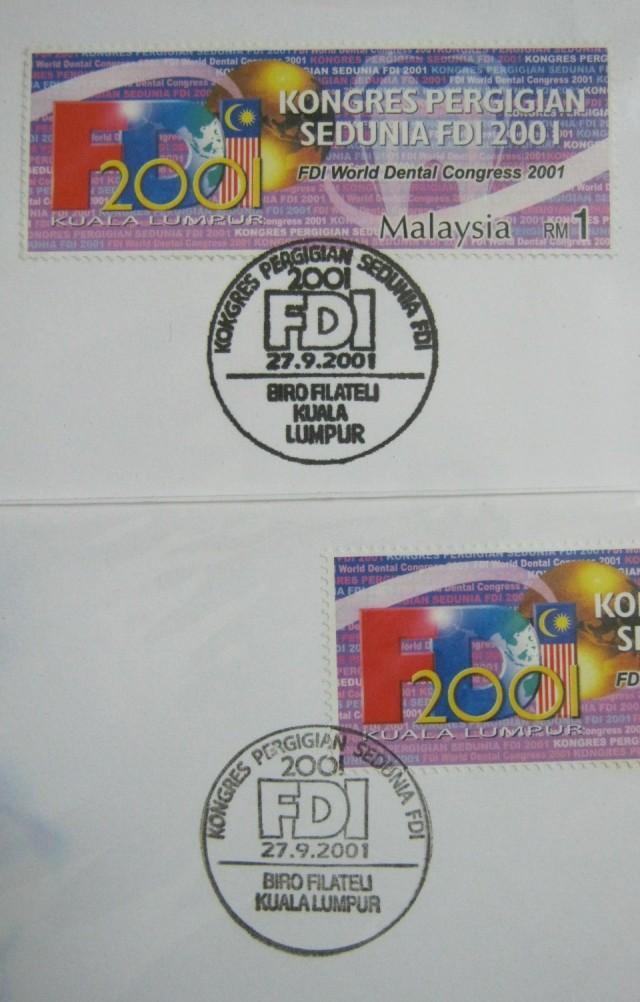20010927 Kuala Lumpur variety cancellation on FDI World Dental Congress 2001