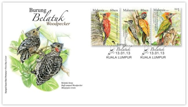 Woodpecker Stamp FDC