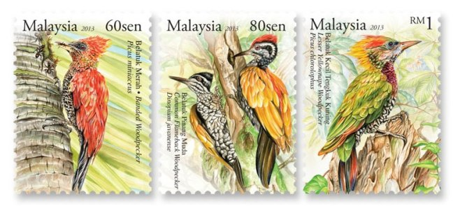 Woodpecker stamps