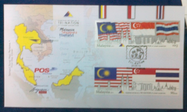 Tri Nation Stamps on FDC