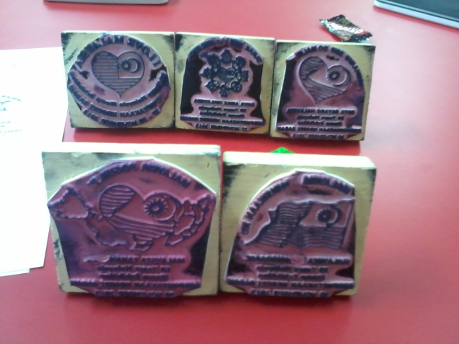 Sabah exhibition damaged rubber stamps