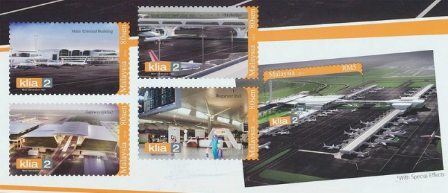 klia2 stamps miniature sheet