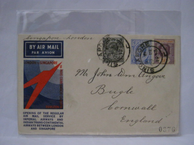 19331229 Imperial Airways Singapore - London