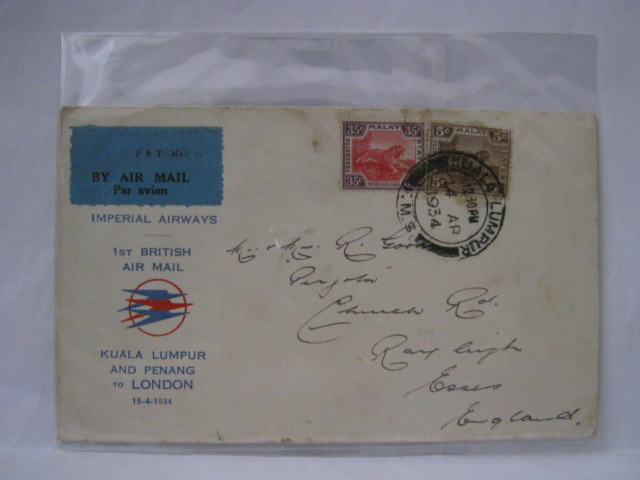 19340414 Imperial Airways KL - London