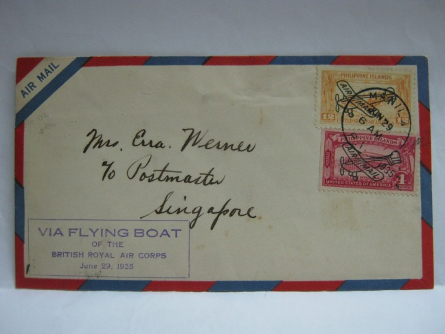 19350629 British Royal Air Corps Manila - Singapore