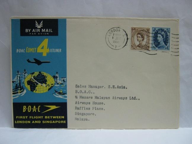 19590601 BOAC London - Singapore
