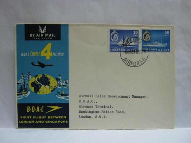 19590604 BOAC Singapore - London