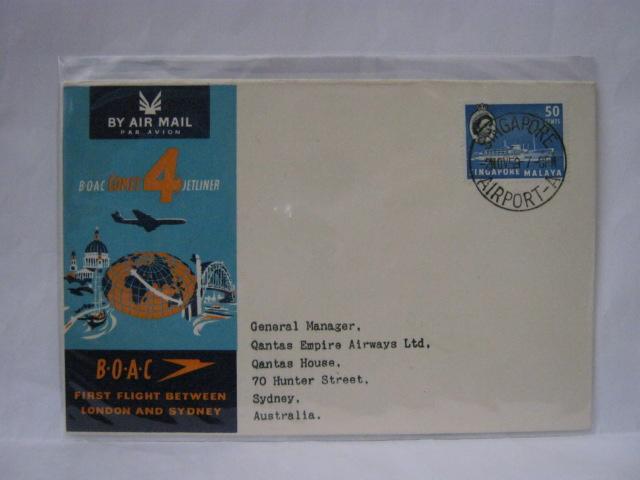 19591102 BOAC Singapore - Sydney