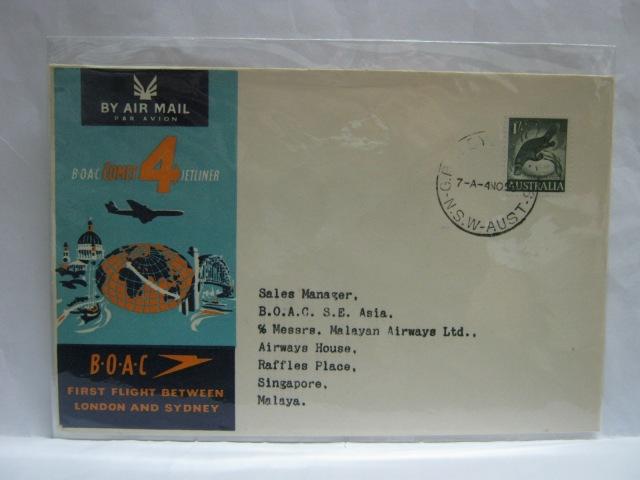 19591104 BOAC Sydney - Singapore