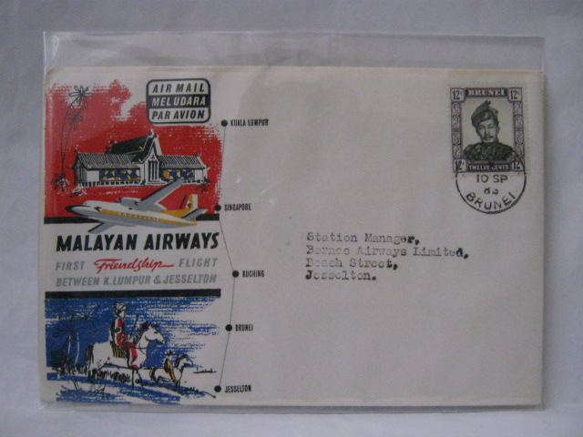 19630910 Malayan Airways Brunei - Jesselton