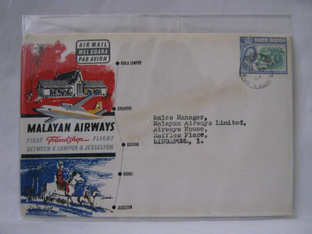 19630910 Malayan Airways Jesselton - Singapore
