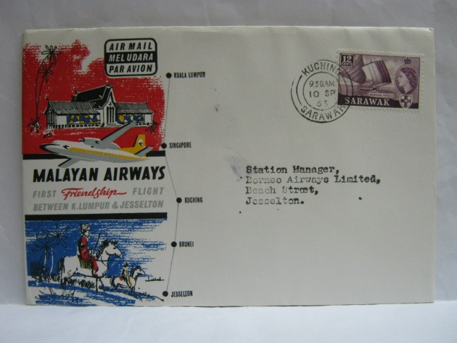 19630910 Malayan Airways Kuching - Jesselton