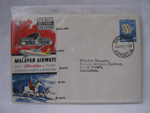 19630910 Malayan Airways Singapore - Jesselton