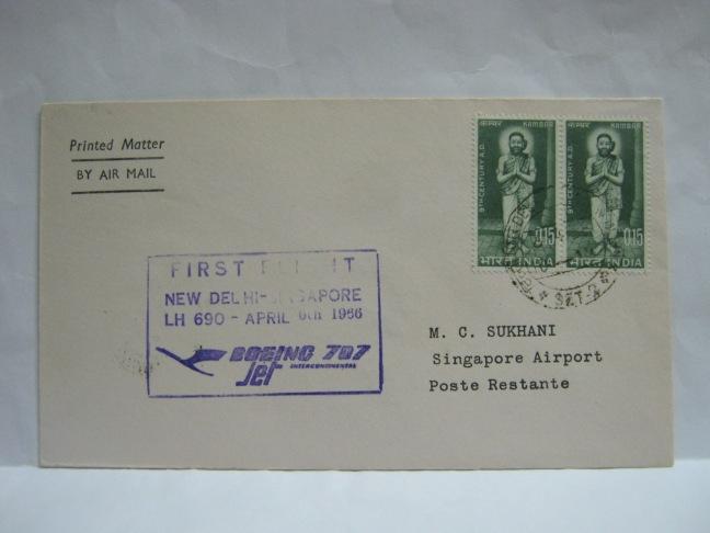 19660406 Lufthansa New Delhi - Singapore