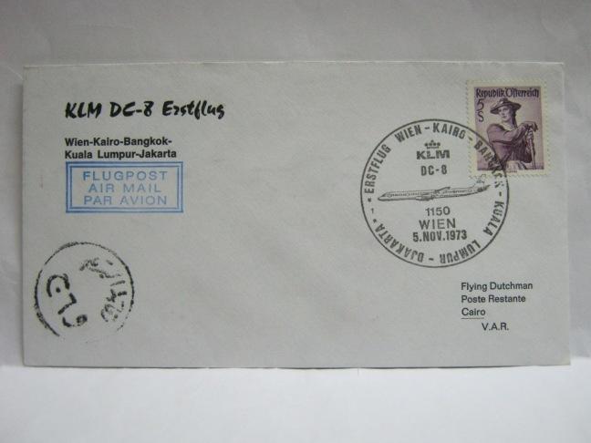 19731105 KLM Vienna - Cairo