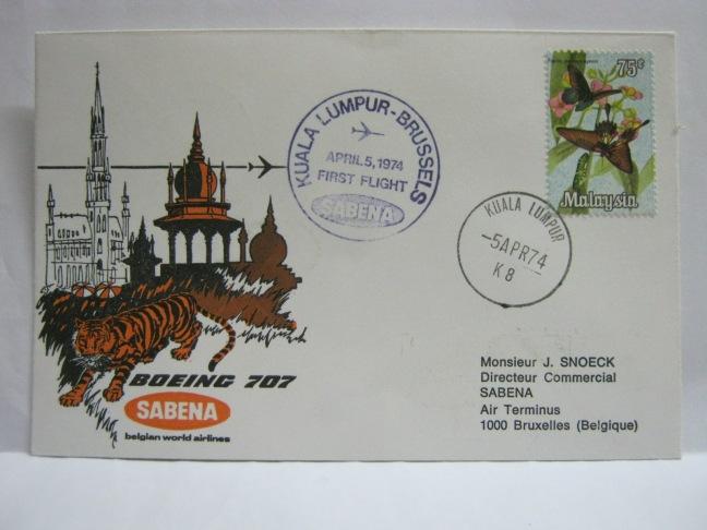 19740405 Sabena KL - Brussels