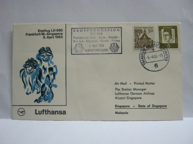 19650406 LH Frankfurt - Singapore