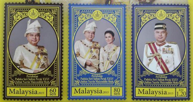Installation Sultan Perak Stamps