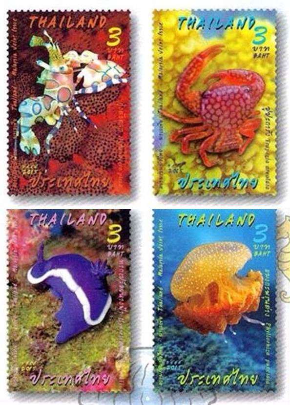 Thailand Post Marine Creatures Malaysia Thailand Joint Issue