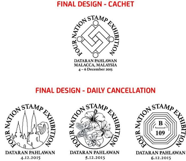 Four Nation Stamp Exhibition Daily Cancellation