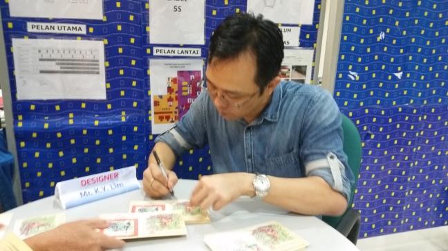 20160126 Designer KY Lim autographing