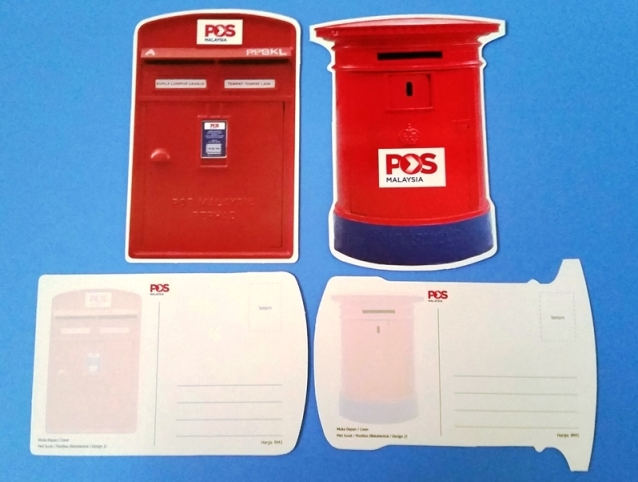 Post Box Shaped postcards