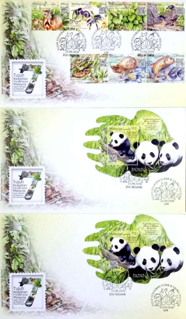 20160823 & Wonders of Malaysia Flora and Fauna set