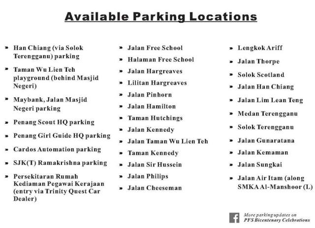 list-of-parking-locations-for-the-bicentenary-dinner