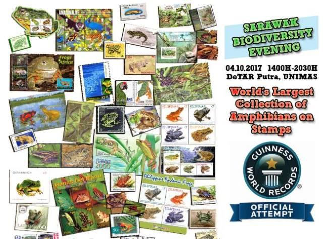 Come to Kota Samarahan for an A to Z in Amphibian Philately and a Guinness World Record in the Making