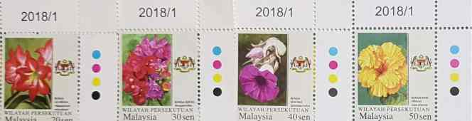 Updates on 2018 Federal Territory Garden Flowers with Micro text printing Definitive and National Orchids Definitive