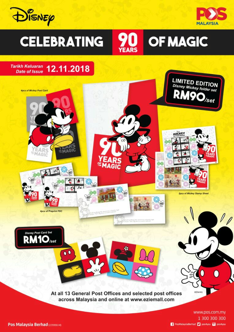 The Disney Postcard Is A Set Of 2 Postcards And Retails At RM 10