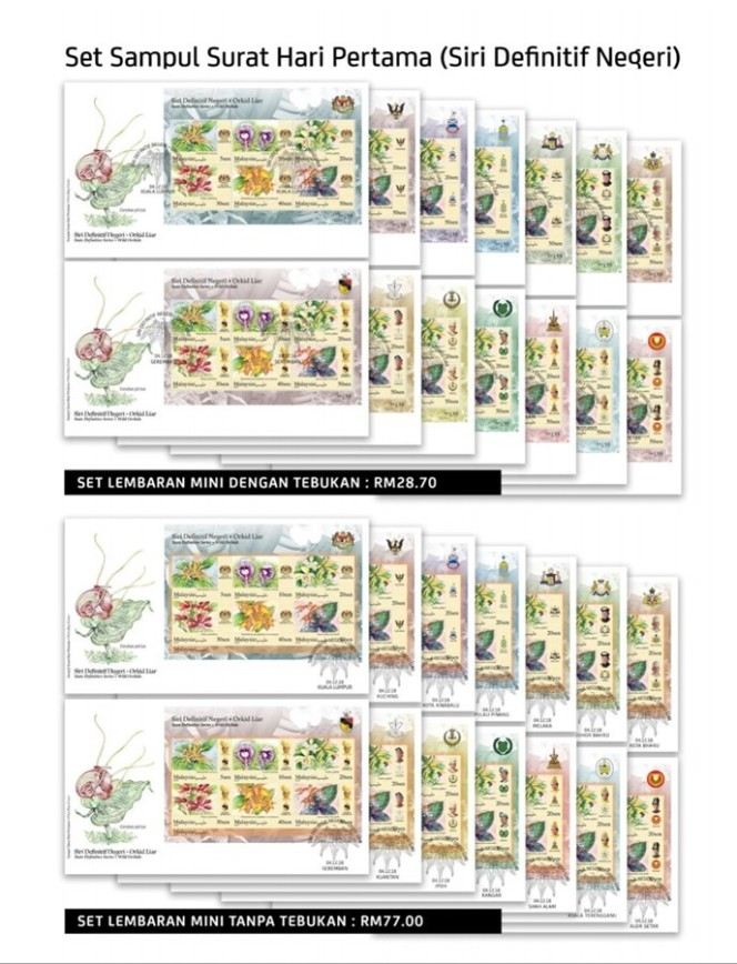 SODA Order Forms for Definitive, Thailand 2018 and Stamp Week 2018