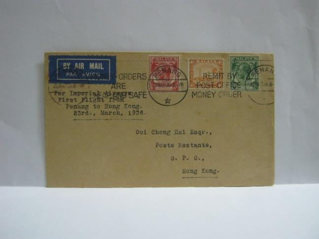 19360322 Imperial Airways Penang - Hong Kong