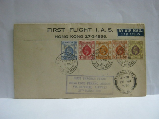 19360326 Imperial Airways Hong Kong - Penang